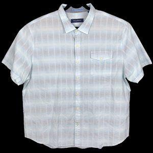 Tommy Bahama Blue Cotton Hawaiian Camp Shirt 3XL